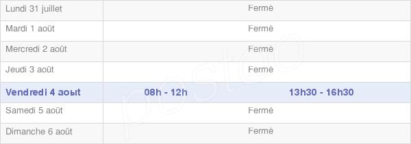 horaires d'ouverture de la Mairie De Salins-Les-Bains