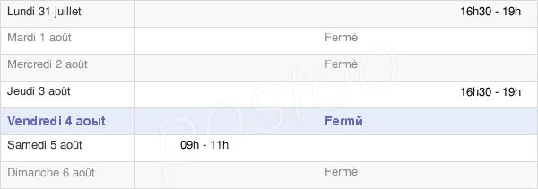 horaires d'ouverture de la Mairie De Mignerette
