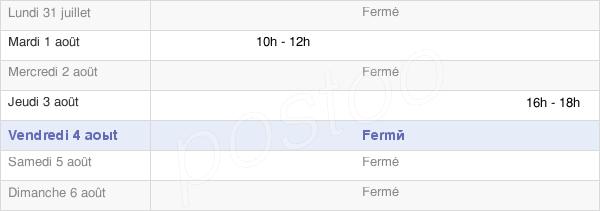 horaires d'ouverture de la Mairie D'Amange