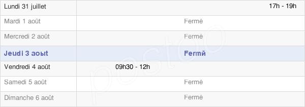 horaires d'ouverture de la Mairie De Brans