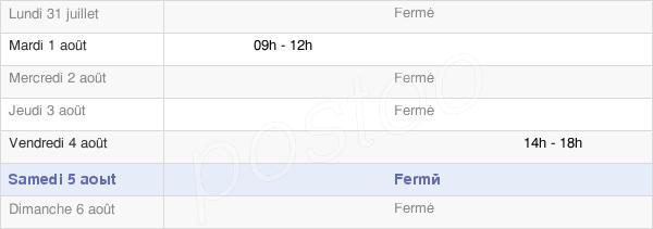 horaires d'ouverture de la Mairie De Verges