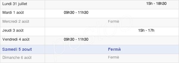 horaires d'ouverture de la Mairie De Saint-Germain-En-Montagne