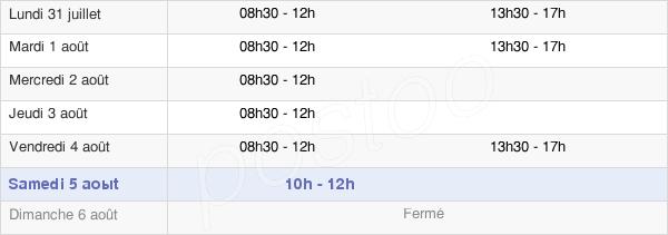horaires d'ouverture de la Mairie De Saint-Pryvé-Saint-Mesmin