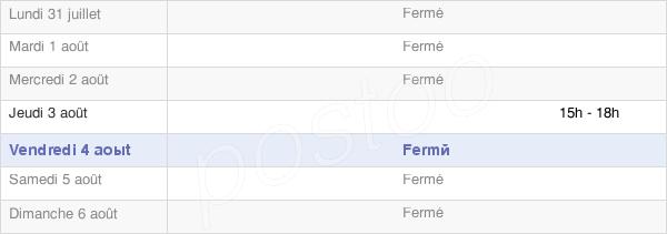 horaires d'ouverture de la Mairie De Sergenon