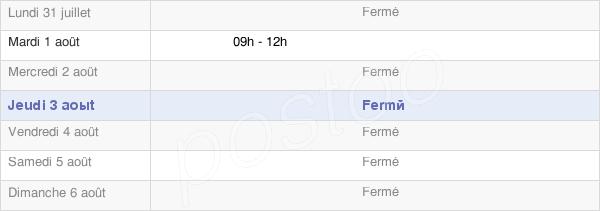 horaires d'ouverture de la Mairie De La Frasnee