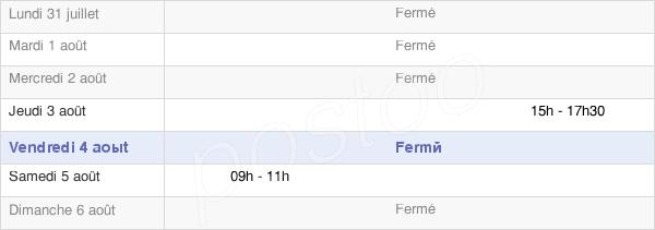 horaires d'ouverture de la Mairie D'Arthenas