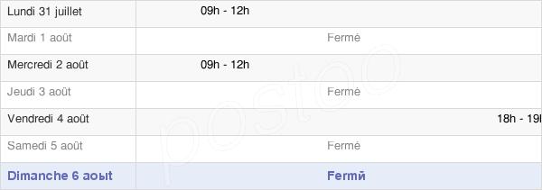 horaires d'ouverture de la Mairie De Sermange