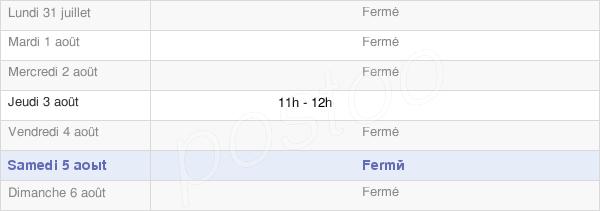 horaires d'ouverture de la Mairie De Genod
