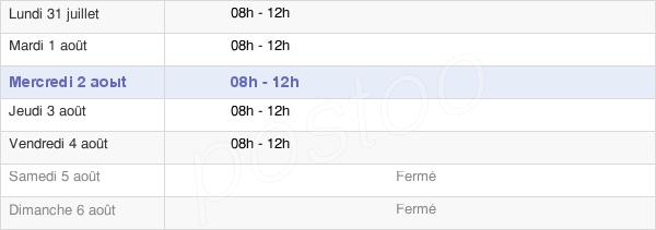 horaires d'ouverture de la Mairie De Vers-Sous-Sellières