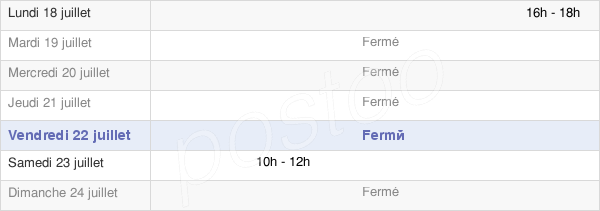 horaires d'ouverture de la Mairie D'Étrepigney