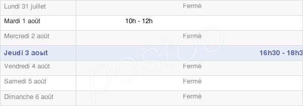 horaires d'ouverture de la Mairie De La Vieille-Loye