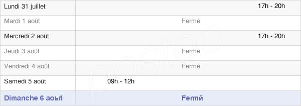 horaires d'ouverture de la Mairie De Souvans