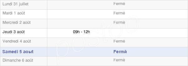 horaires d'ouverture de la Mairie D'Offlanges