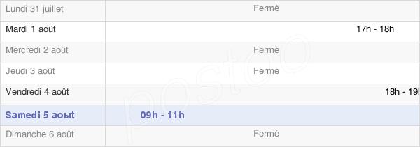horaires d'ouverture de la Mairie De Trenal