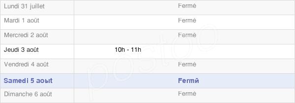 horaires d'ouverture de la Mairie De Plénisette