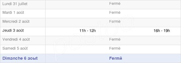 horaires d'ouverture de la Mairie De Briod