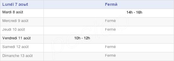 horaires d'ouverture de la Mairie D'Esserval-Tartre