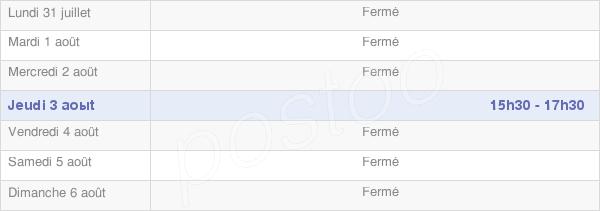 horaires d'ouverture de la Mairie De Plumont