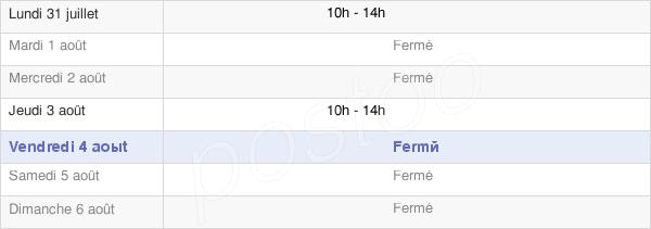 horaires d'ouverture de la Mairie De Picarreau