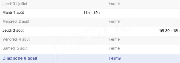horaires d'ouverture de la Mairie De Véria