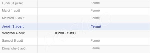 horaires d'ouverture de la Mairie De Thoissia