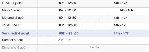 horaires d'ouverture de la Mairie De Malesherbes