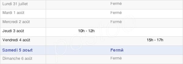 horaires d'ouverture de la Mairie De Miéry