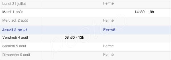 horaires d'ouverture de la Mairie De Coyron