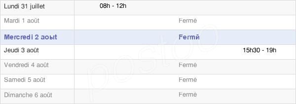 horaires d'ouverture de la Mairie De Cernans