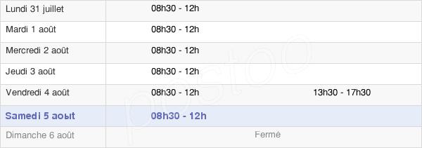 horaires d'ouverture de la Mairie De Huisseau-Sur-Mauves