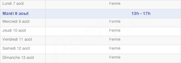 horaires d'ouverture de la Mairie De Grange-De-Vaivre