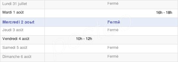 horaires d'ouverture de la Mairie De Champagney