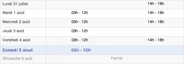 horaires d'ouverture de la Mairie De Dordives