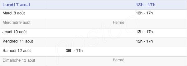 horaires d'ouverture de la Mairie De Chanos-Curson