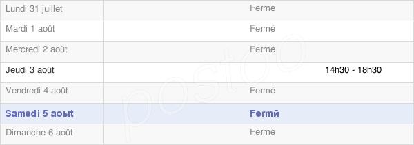 horaires d'ouverture de la Mairie De Poids-De-Fiole