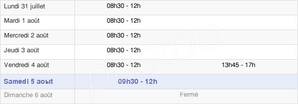horaires d'ouverture de la Mairie De Loury