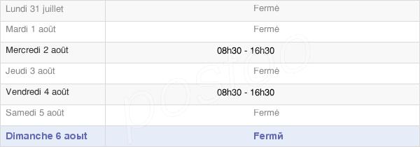 horaires d'ouverture de la Mairie De La Tour-Du-Meix