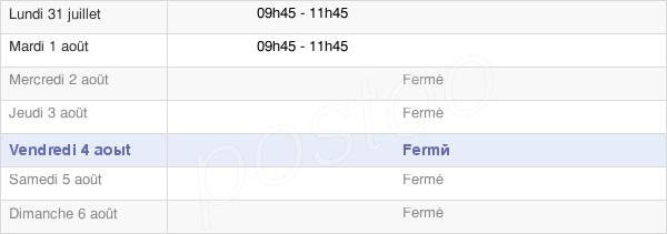 horaires d'ouverture de la Mairie De Mièges