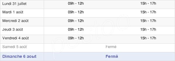 horaires d'ouverture de la Mairie De Lavans-Lès-Saint-Claude
