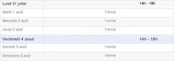 horaires d'ouverture de la Mairie De Cramans