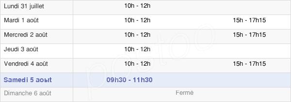 horaires d'ouverture de la Mairie De Saint-Laurent-En-Grandvaux