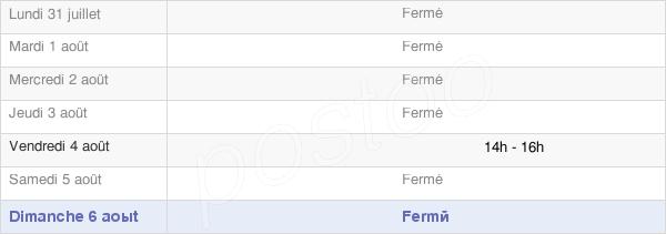 horaires d'ouverture de la Mairie De Frasne-Les-Meulières