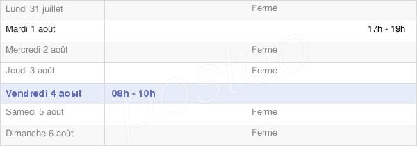 horaires d'ouverture de la Mairie De Serre-Les-Moulières