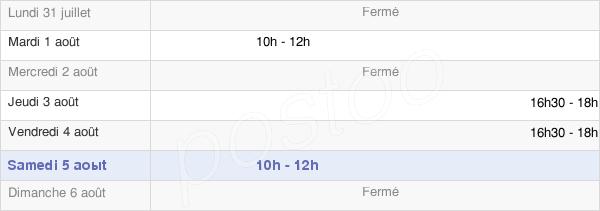 horaires d'ouverture de la Mairie De Dammarie-Sur-Loing