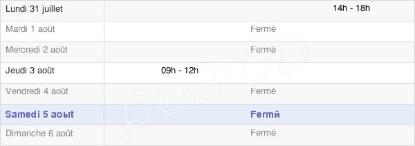 horaires d'ouverture de la Mairie De Rozières-En-Beauce