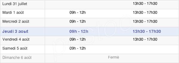 horaires d'ouverture de la Mairie De Douchy