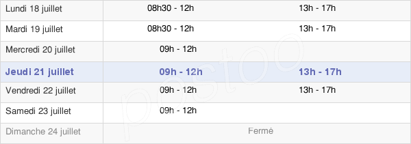 horaires d'ouverture de la Mairie De Saint-Hilaire-Les-Andrésis