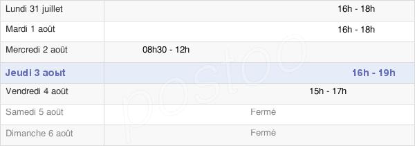 horaires d'ouverture de la Mairie De Boulay-Les-Barres