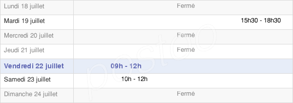 horaires d'ouverture de la Mairie De Préfontaines