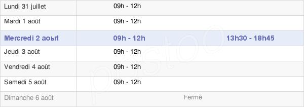 horaires d'ouverture de la Mairie De Fay-Aux-Loges